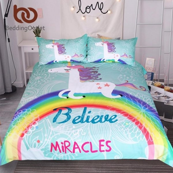 adornment of bed unicorn miracles 220x240cm