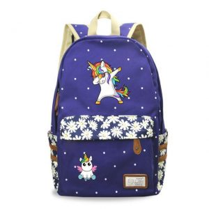 backpack unicorn dab blue