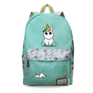 backpack unicorn kawaii green at sell