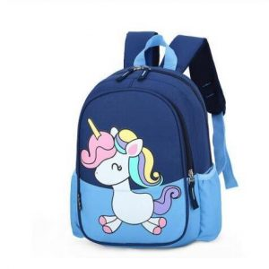 backpack unicorn little girl blue bag at back and backpack unicorn