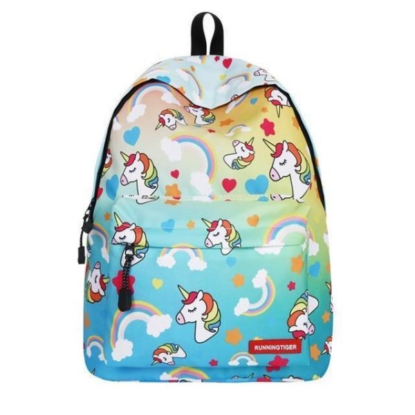 backpack unicorn multicolored school unicorn stuffed animals