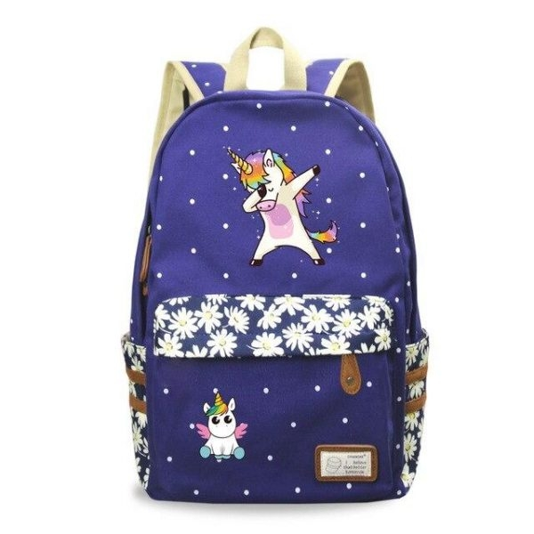 backpack unicorn multicolored who dab bag at back and backpack unicorn