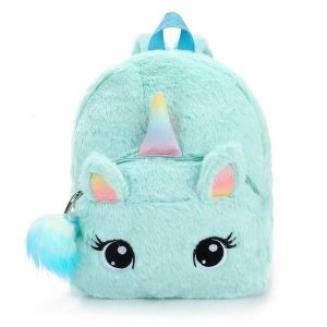 bag at back head of unicorn