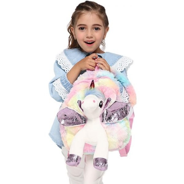 bag at back in form of unicorn money unicorn stuffed animals