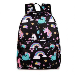 bag at back school unicorn girl