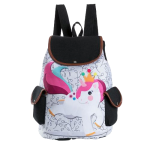 bag at back small girl unicorn not dear