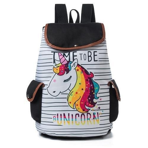 bag at back unicorn at scratches bag at back and backpack unicorn