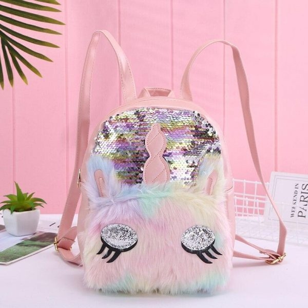 bag at back unicorn fur glitter price