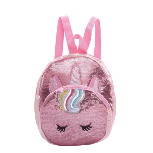 bag at back unicorn glitter bag at back and backpack unicorn