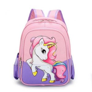 bag at back unicorn little girl not dear