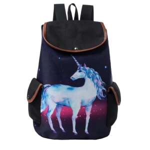 bag at back unicorn magical