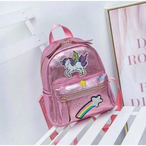 bag at back unicorn school girl not dear
