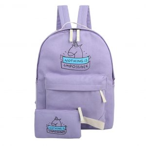 bag at back unicorn school green unicorn stuffed animals
