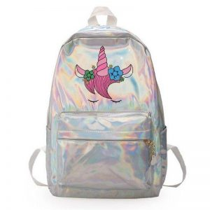 bag at back unicorn shiny bag at back and backpack unicorn