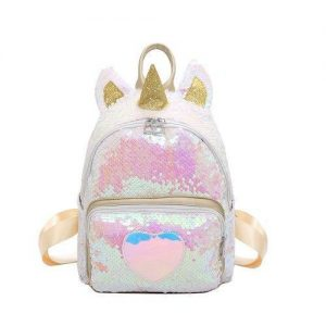 bag at back unicorn white sequins