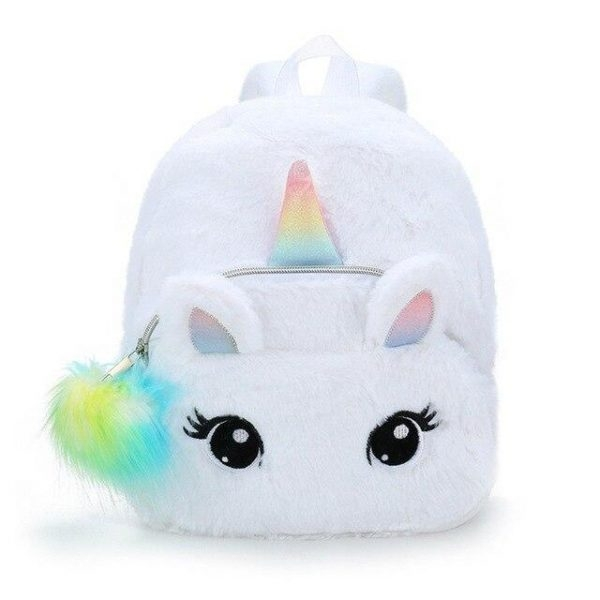 bag at back unicorn white unicorn stuffed animals