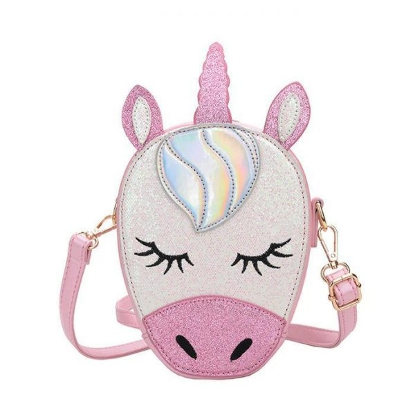 bag at hand in form of unicorn or