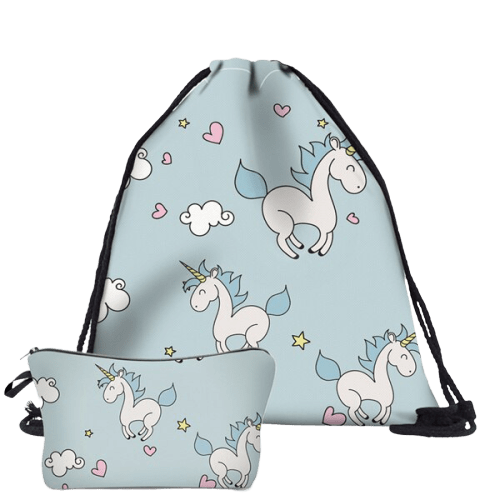 bag lightweight unicorn kawaii blue girl price
