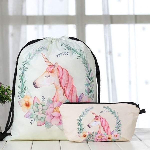 bag lightweight unicorn pink kawaii child objects unicorn at price minis
