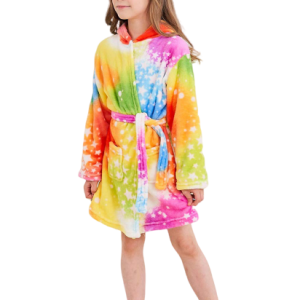 bathrobe of bath multicolored for girl 160cm at sell