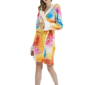 bathrobe of bath unicorn multicolored l buy
