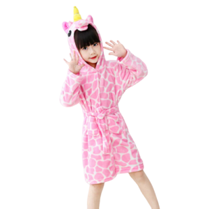 bathrobe of bath unicorn pink 160cm clothing unicorn