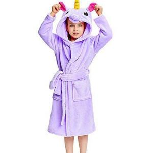 bathrobe of bath unicorn purple 160cm clothing unicorn