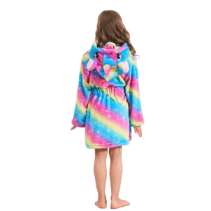 bathrobe unicorn bow in sky 160cm not dear