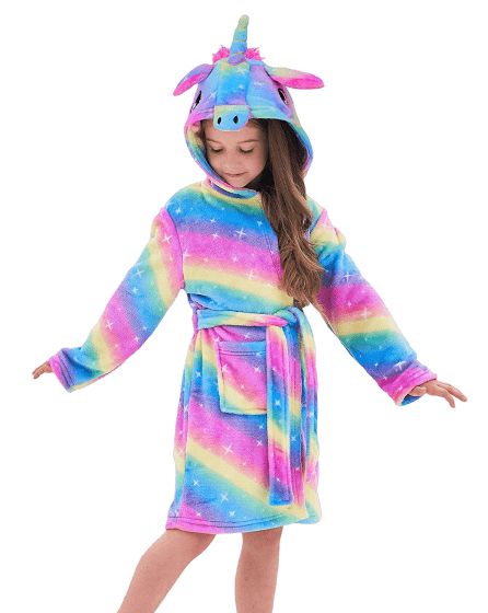 bathrobe unicorn bow in sky 160cm price