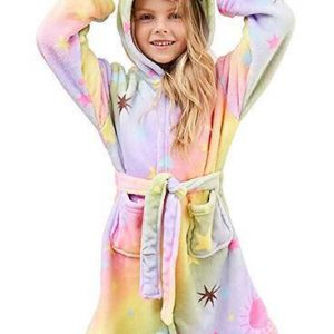 bathrobe unicorn for girl multicolored 160cm price