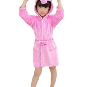 bathrobe unicorn pink child 160cm