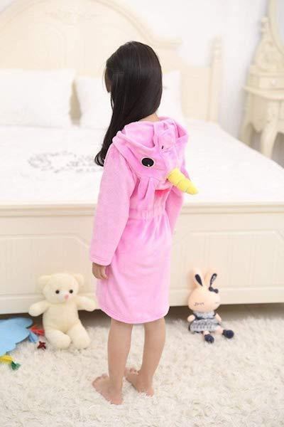 bathrobe unicorn pink child 160cm at sell