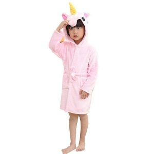 bathrobe unicorn pink girl 160cm price