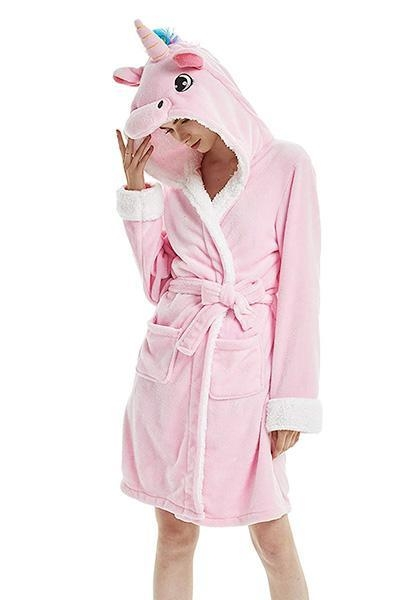 bathrobe unicorn pink women l buy