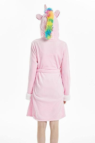bathrobe unicorn pink women l not dear