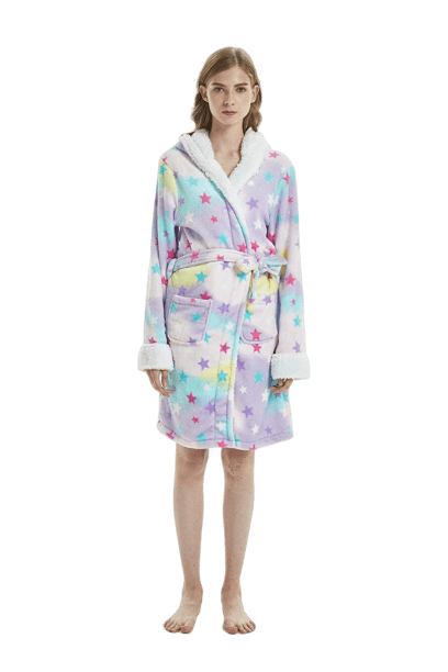 bathrobe unicorn stars women l at sell