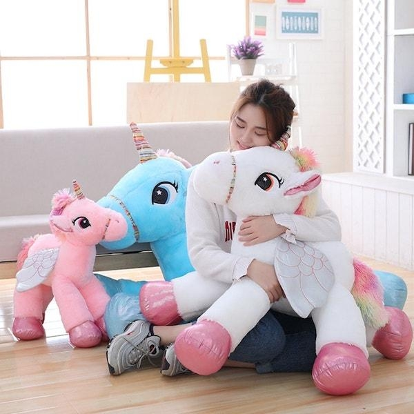 big plush unicorn 90cm pink buy