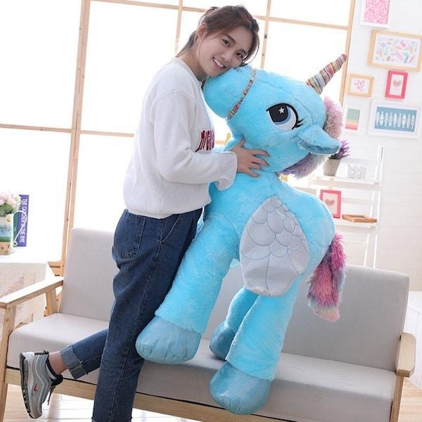 big plush unicorn 90cm pink