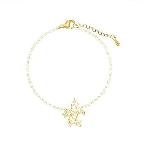 bracelet unicorn chain in gold money buy