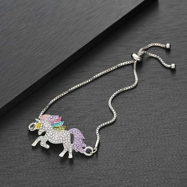 bracelet unicorn diamond multicolored