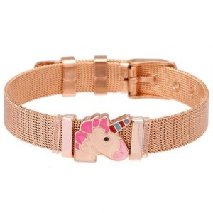 bracelet unicorn kawaii steel stainless pink unicorn stuffed animals