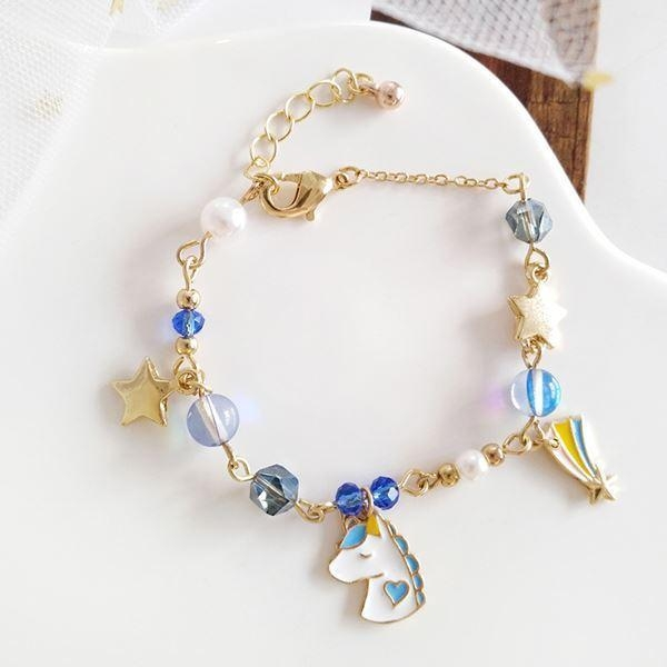 bracelet unicorn magical women blue at sell