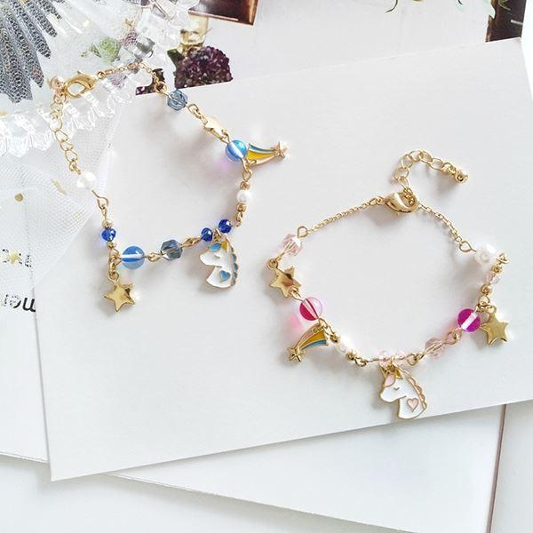 bracelet unicorn magical women blue price