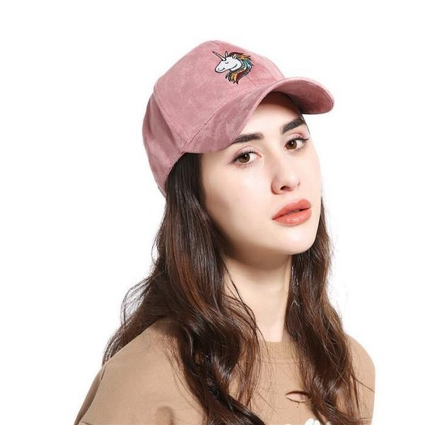 cap unicorn adjustable in suede black at sell