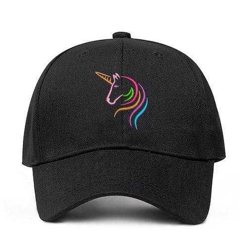 cap unicorn adjustable women man orange buy