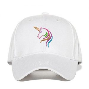 cap unicorn adjustable women man orange not.