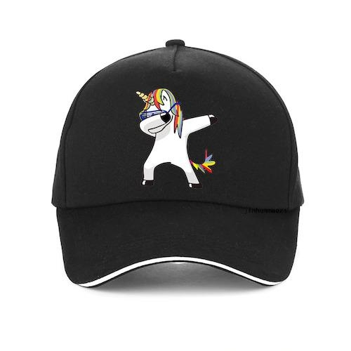 cap unicorn dab cotton women man blue marine 1