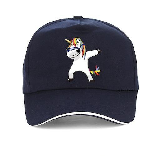 cap unicorn dab cotton women man blue marine not dear