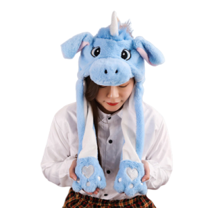 cap unicorn kawaii blue not dear