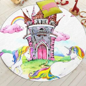 carpet castle unicorn 150cm of diameter room